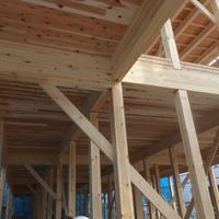 木造共同住宅で新工法採用