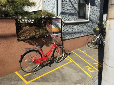 自転車1台分のスペースを駐輪場として貸し出せる
