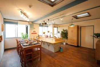 明るく広いダイニングキッチン