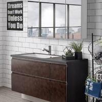 アイカ工業、3面ミラーの洗面化粧台