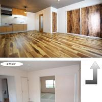 総和建工、木目を生かしたカフェ風の部屋