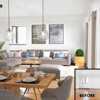 カラーアンドデコ、物件写真にバーチャルで家具設置